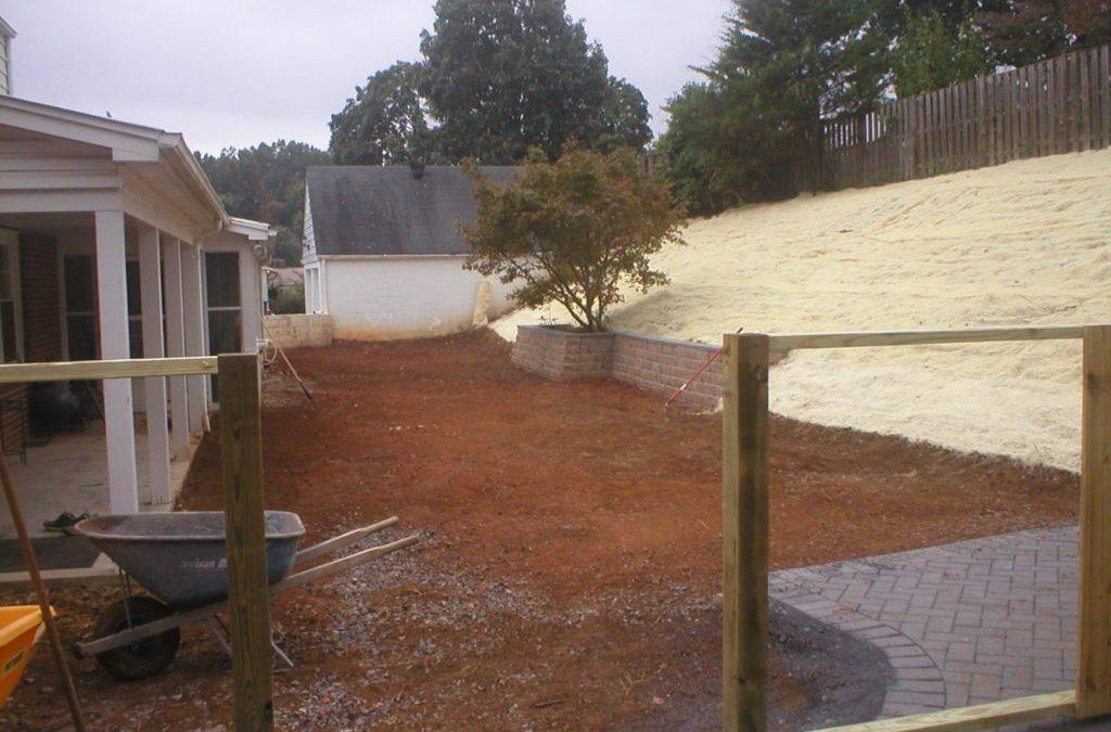 Yard Renovation and Retention Wall