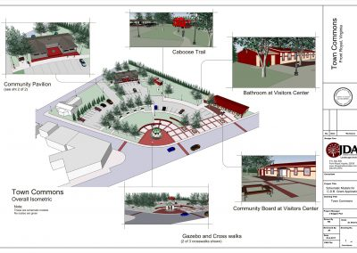 Front Royal- Town Commons Schematic Model sht 1 of 2
