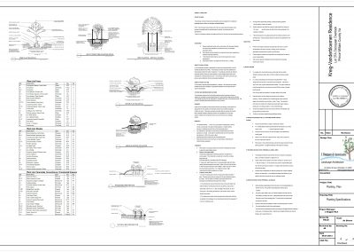 1d. Kreig-Vanderbloemen Planting Plan sht 4 of 4
