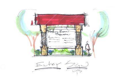 6. North River Sq Entry Sign Sketch 12 18 06-B