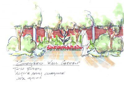 8. Courtyard Wall Garden-Twin Rivers